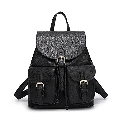 Black Dos Backpack Sac QXMEI Sac Mme à PU D'étudiant Fashion HzHI6q