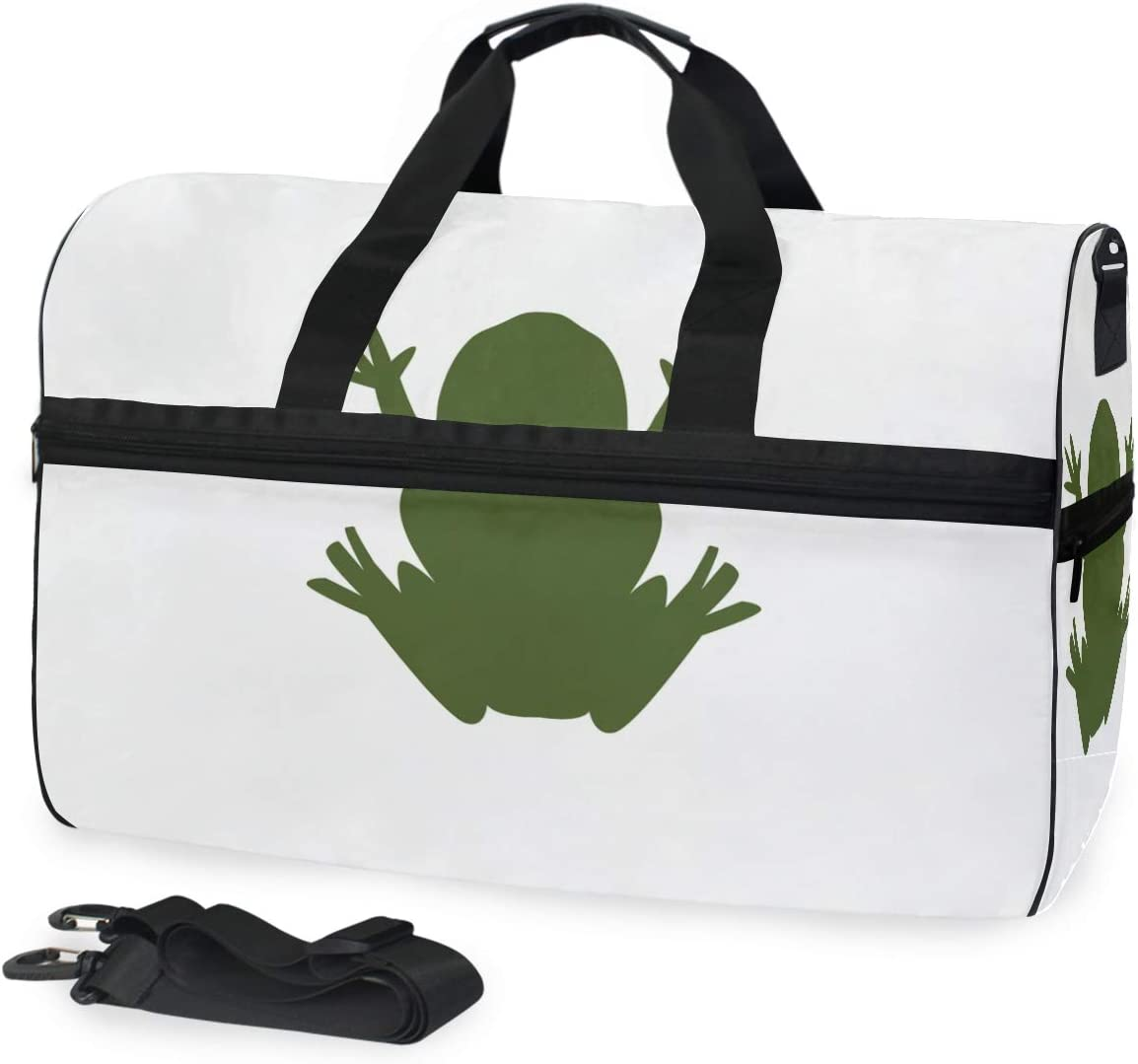 FAJRO Duffle Bag for Women Men Fat Frog Travel Duffel Bag Large Size Water-proof Tear Resistant