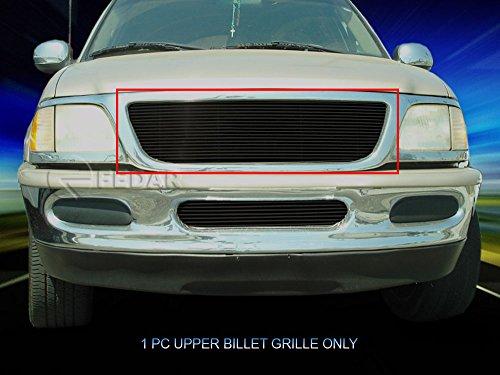 1998 Black Billet Grille (Fedar Main Upper Replacement Billet Grille Insert for 1997-1998 Ford Expedition/F150/F250 Selected Models)