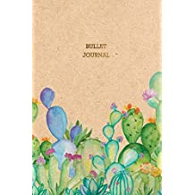Bullet Journal: Cactus Bullet Journal | 6x9 Dot Grid Notebook