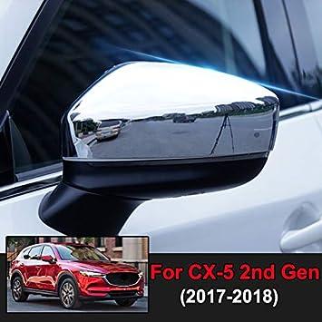 New Chrome Rearview Mirror Cover Trim For Mazda CX-5 CX 5 2017 2018