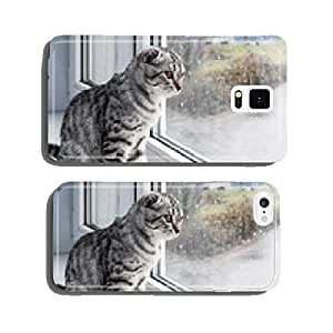 cat sits on a windowsill cell phone cover case iPhone6 Plus