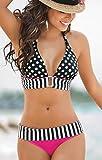Fashiongallery Verano Traje de Baño de dos piezas Push Up Bikinis set estilo de folklore para Mujer
