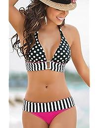 47d7c04e5 Fashiongallery Verano Traje de Baño de Dos piezas Bikinis Estilo de  Folklore para Mujer