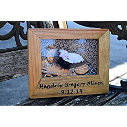 Personalized Picture Frame - Personalized Gift - Rustic Picture Frame - Wood Picture Frame - Wood Picture Holder - Engraved Picture Frame
