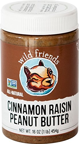 Wild Friends Foods Raisin Peanut Butter, Cinnamon, 16 oz ()