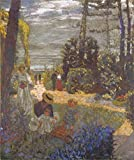 Perfect Effect Canvas ,the High Resolution Art Decorative Canvas Prints Of Oil Painting 'Edouard Vuillard - The Terrace At Vasouy, The Garden,1901, Reworked 1935', 16x19 Inch / 41x48 Cm Is Best For Study Decor And Home Decor And Gifts