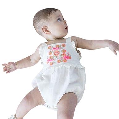 Recién Nacido bebé niñas sin Mangas Sling Mono Traje Trajes Color ...