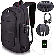 Tzowla Business Laptop Backpack Water Resistant Anti-Theft College Backpack with USB Charging Port and Lock 15.6 Inch…