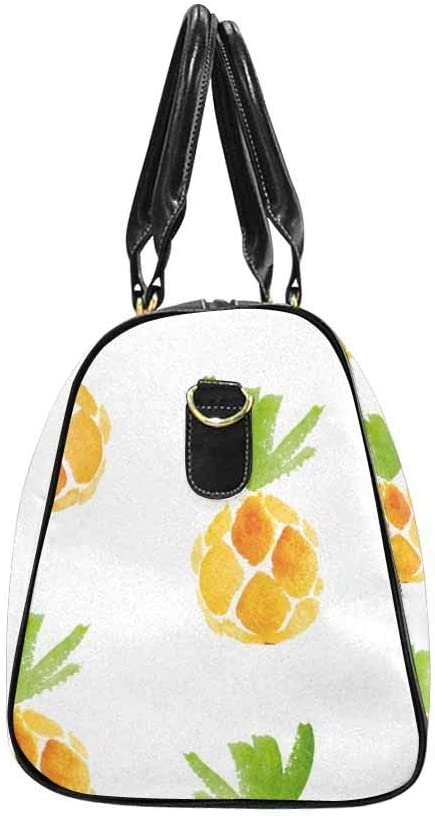 InterestPrint Carry-on Garment Bag Travel Bag Duffel Bag Weekend Bag Pineapples Watercolor