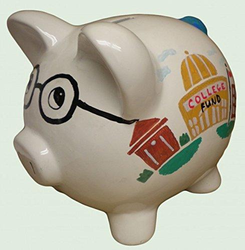 Wall Street Gifts College Fund Piggy Bank 8 inch Artist Original