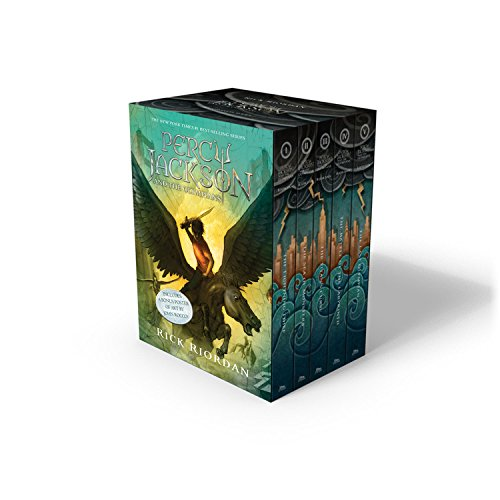 5 Paperback Books - Percy Jackson and the Olympians 5 Book Paperback Boxed Set (new covers w/poster) (Percy Jackson & the Olympians)