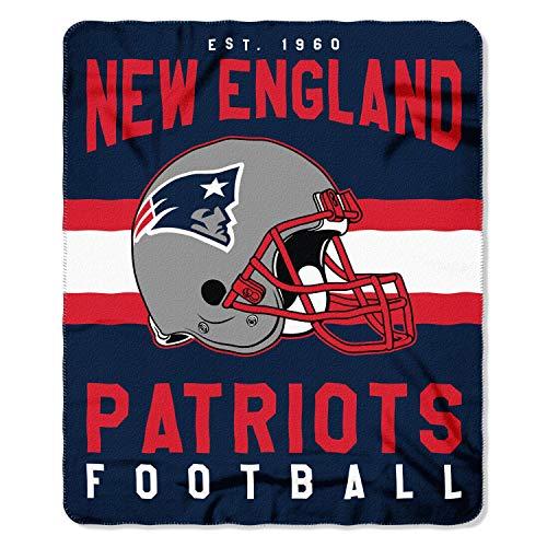 The Northwest Company NFL New England Patriots Singular Printed Fleece Throw, Blue, 50