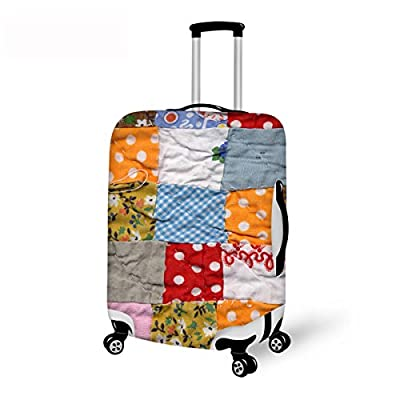 3b40d280c82a Advocator 3D Geometry Travel Luggage Protective Cover Patchwark ...