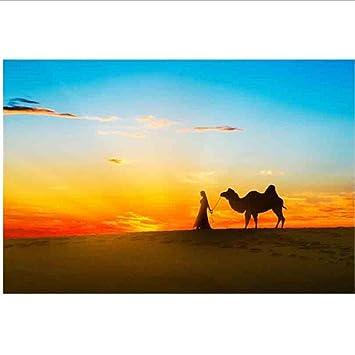 Menschen Und Kamele In Der Wüste Malen Nach Zahlen Diy Moderne