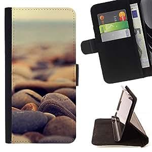 For HTC One M8 Case , Naturaleza Hermosa Forrest Verde 186- la tarjeta de Crédito Slots PU Funda de cuero Monedero caso cubierta de piel