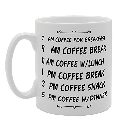 Whole Day Am Pm Coffee Breakfast Break Lunch Snack Dinner Unique Present Idea for Men and Women Coffee Mug Gifts for Papa Husband Birthday Gifts Dad Gifts Sarcasm Mug Cup 11oz (Whole Foods 2017 Christmas Trees)