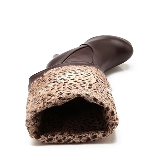 1TO9Mns01810 - con Plateau Donna, Marrone (Brown), 35