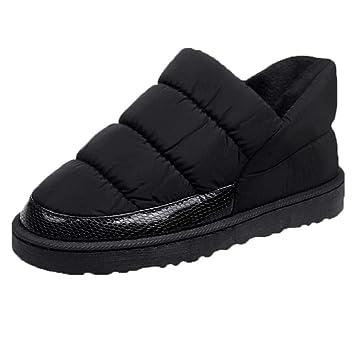 QUICKLYLY Botas De Nieve Mujer,Botines para Adulto,Zapatillas/Zapatos De Invierno Calzado Ocio De Pan Plano Impermeable Mantenga Cálidas Desnudas: ...