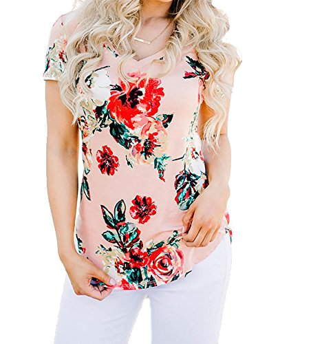 V-neck Mixed Prints Top - 1