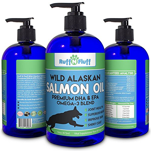 Premium salmon fish oil for dogs and cats wild alaskan for Fish oil for dog allergies