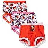 Sesame Street Toddler Girls' Elmo Girl 3 Pack Training Pant, Assorted Prints, 3T