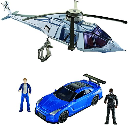 Mattel Star - Mattel Fast & Furious 8 Extreme Stunt Stars Nissan GT-R Vehicle, Helicopter & 2 Figures Vehicle