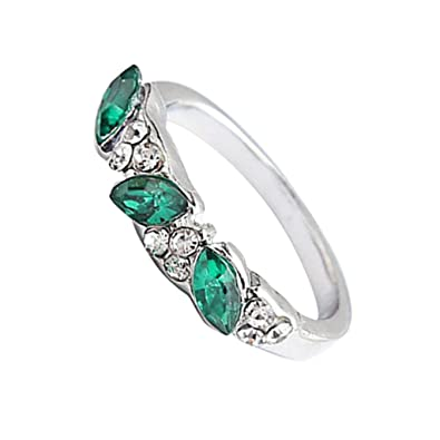 be4c61f744ce6 Amazon.com: Toaimy Ear Pendants Retro Emerald Ring Sweet Diamond ...