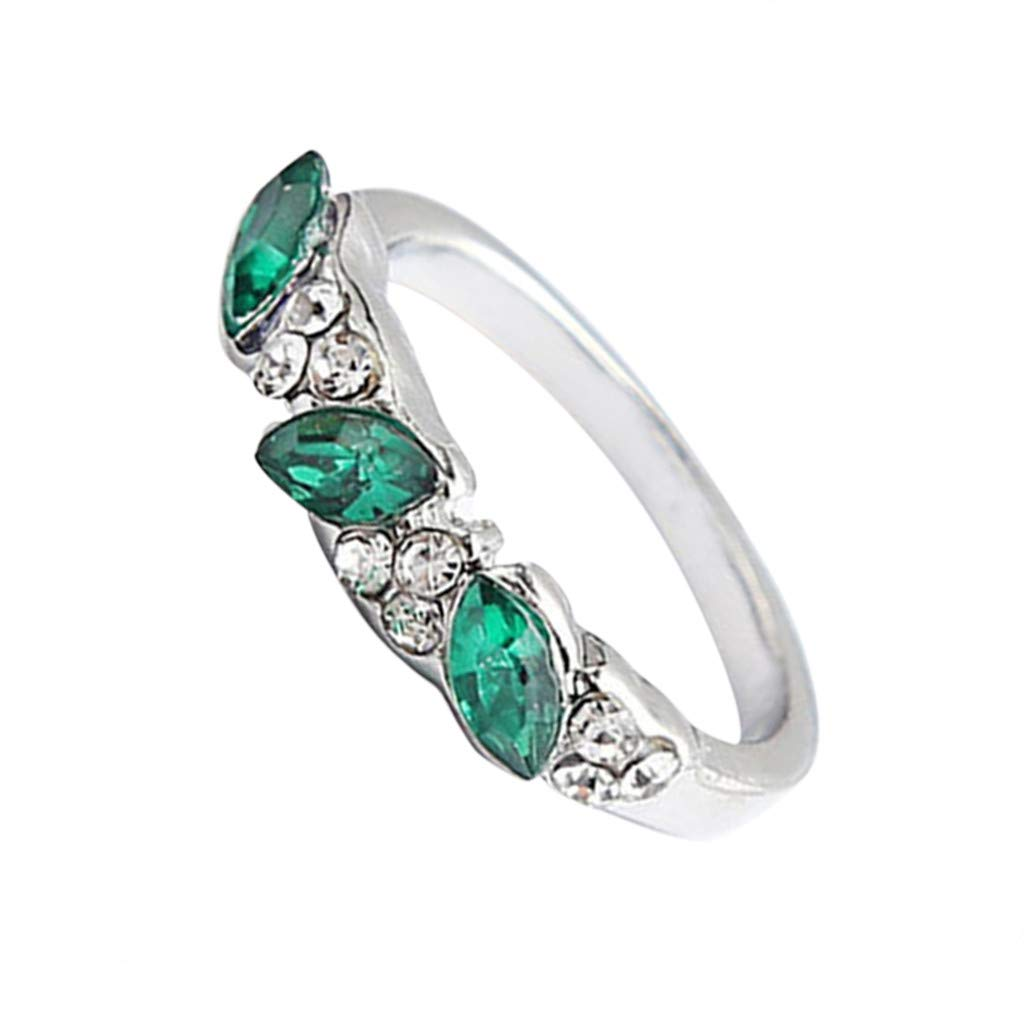 Retro Emerald Ring Sweet Diamond Ring Female Diamond Ring Index Finger Decoration Emerald Ring Rose Gold