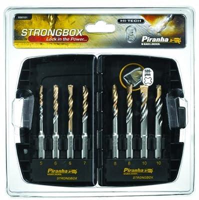 Piranha Strongbox SDS Plus Hi-Tech Drill Bit Set (8 Pieces) by BLACK+DECKER