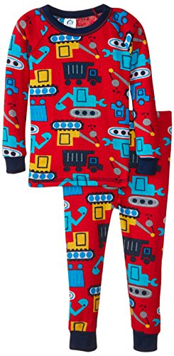Gerber Baby Boys' Construction 2 Piece Thermal Pajamas, Construction, 24 Months