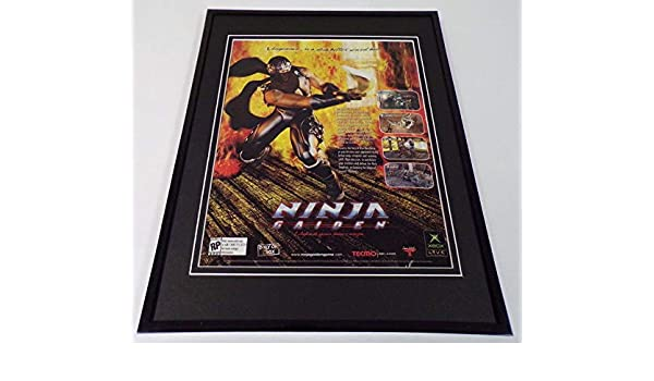 Ninja Gaiden 2004 Xbox Framed 11x14 ORIGINAL Advertisement ...