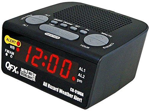QFX CR-91NOA All Hazard Weather Alert Clock Radio AM/FM
