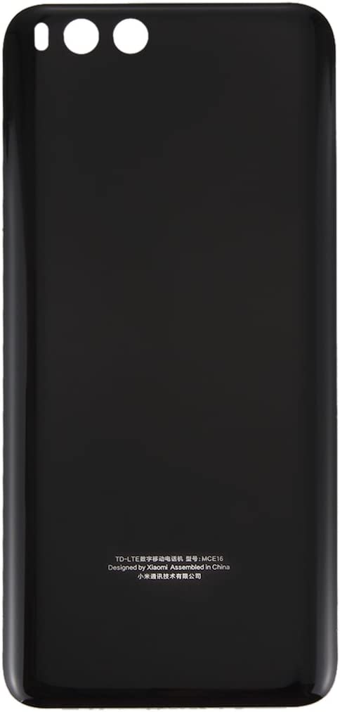 Reemplazo dañado Vieja Cubierta Trasera Reemplazo de la Nueva batería de Cristal de Mi6 Smartphone Nuevo Caso de la contraportada para Xiaomi Mi 6, Color Blanco Negro/Azul (Color : Black)