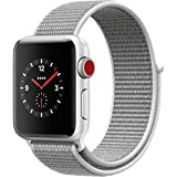 Apple Watch Series 3 - GPS+Cellular - Silver Aluminum Case with Seashell Sport Loop - 38mm