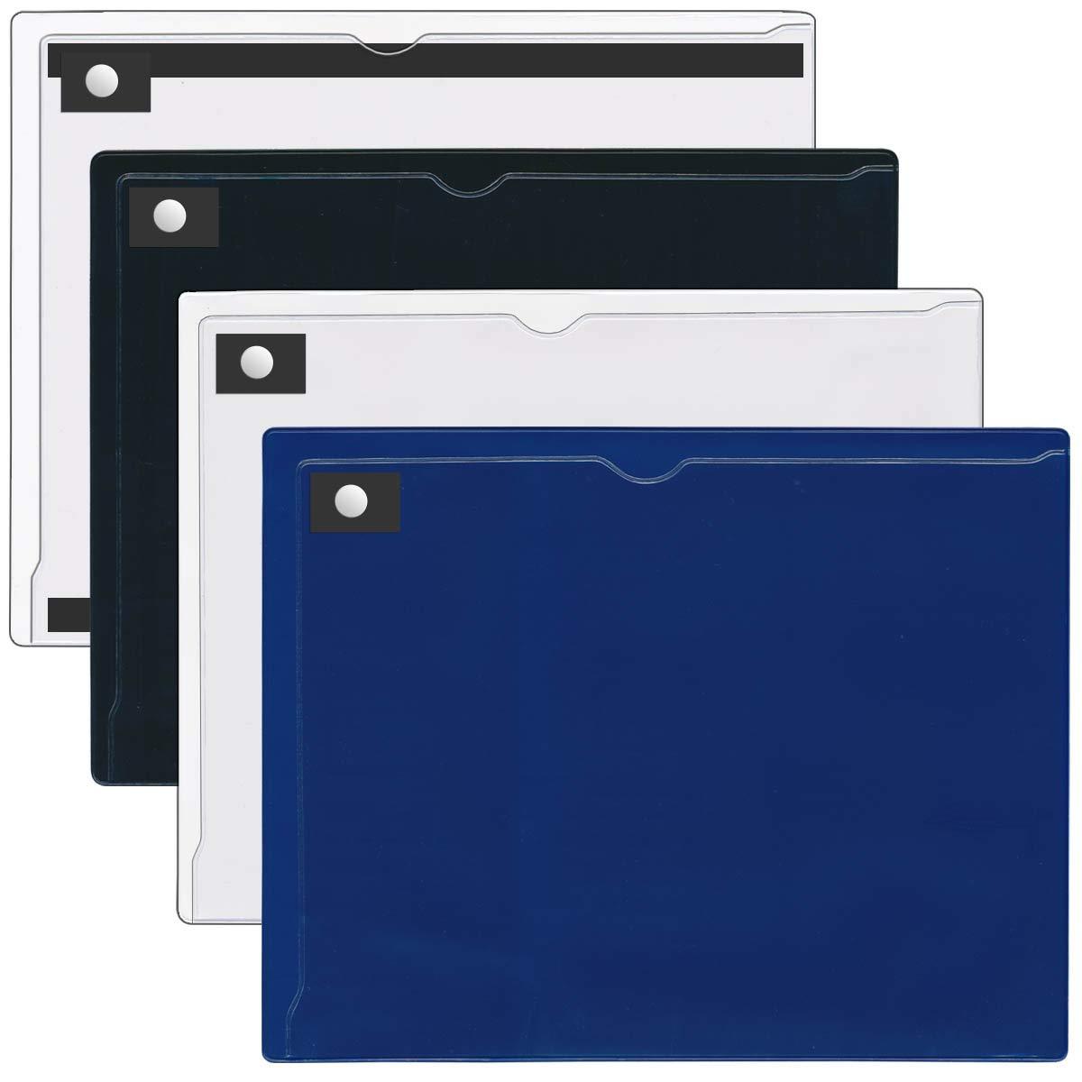 StoreSMART Magnetic Closure Pocket - Magnetic-Back - 8 1/2'' x 11'' - 16 Piece Variety Pack - MCP8511MB-VP16
