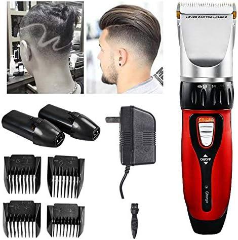 HLDWXN Cortadoras De Pelo para los Hombres Inalámbrico Trimmer de Pelo Trimmer Profesional de la Barba Afeitadora ...