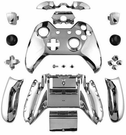 Yb Osana Chrome Silver Controller Full Housing Shell Set Faceplates