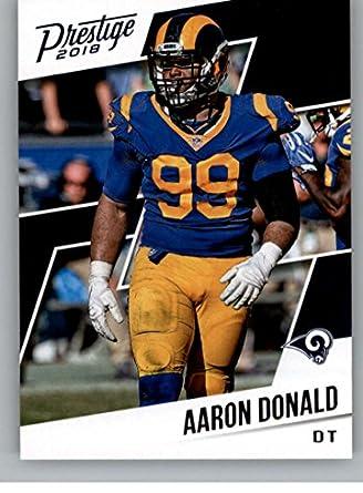 7759aed21 2018 Prestige NFL  185 Aaron Donald Los Angeles Rams Panini Football Card