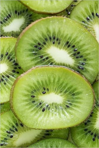 "Extreme Kiwi Fruit Close-up: Notebook, 150 Lined Pages, Softcover, 6"" x 9""  