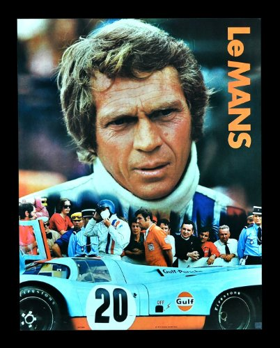 Le Mans * Lemans Movie Poster Steve Mcqueen Auto Racing Porsche F1 Car Garage