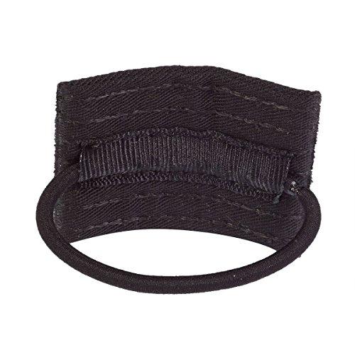 Black Hair Belt (BELT RANK PONYTAIL HOLDER-)
