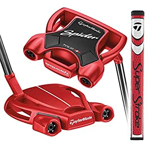 TaylorMade Golf Spider Tour Red #3 Small Slant 33 IN Putter, Right Hand