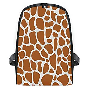 ZZXXB Giraffe Print Backpack Kids Toddler Child Preschool Kindergarten Waterproof Book Bags Travel Daypack for Boys and Girls