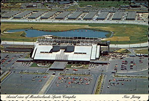 Aerial view of Meadowlands Sports Complex East Rutherford, New Jersey Original Vintage Postcard -