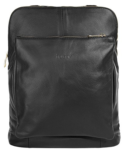 Forty degrees Sac à dos en cuir pour dames. Glattleder City Rucksack