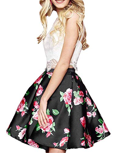 f1b30c57992 ... Floral 2 Piece Homecoming Dresses 2018 Short Prom Gown Size 18 Black.    