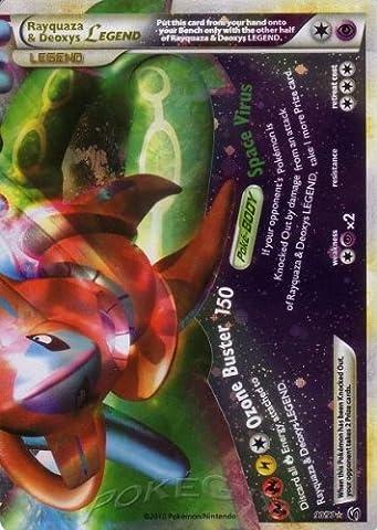 Pokemon Legend HS3 Undaunted Single Card Rayquaza & Deoxys LEGEND Bottom #90 Rare Holo (Legends Of Na)