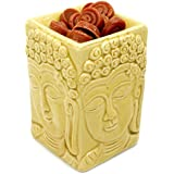 Vintage-Styled Aromatherapy Buddha Tealight Candle Holder Oil or Tart Burner / Warmer: Earth Grey
