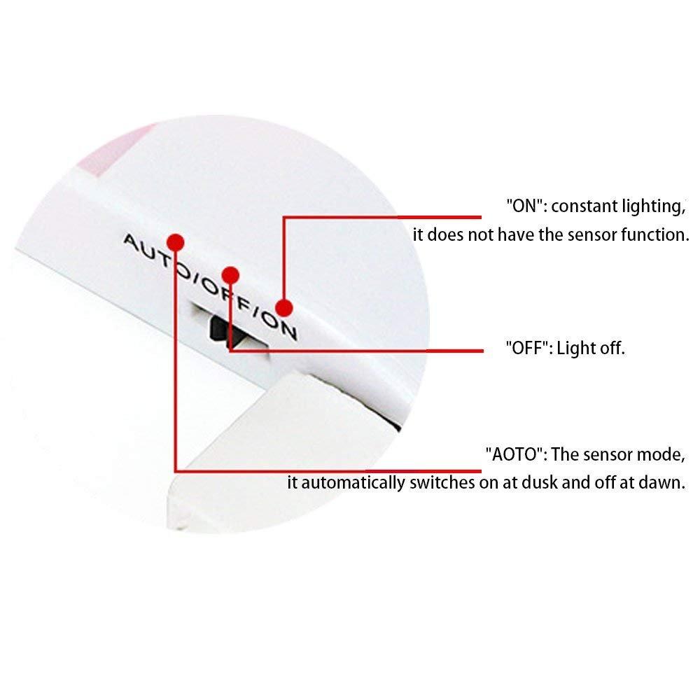 Armario LuxVista 3-Modos USB Led Luz Noctura con Sensor de Movimiento de 55-180 L/úmenes para la iluminaci/ón de Pared Pasillo Escalera 3-Unidades, Luz C/álida Ba/ño